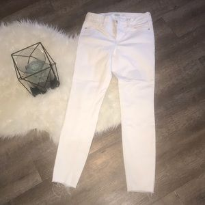 Old Navy Rockstar Super skinny Jeans- white- Sz 4